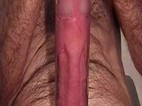 Cumshot into a clear tube