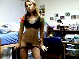 Very hot dorm room striptease