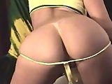 Yellow thong on a great ass