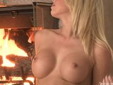 Shawna Lenee Rubs Her Shaved Pussy