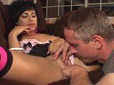 Hot pink heels likes man with big cock