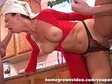 Horny MILF Handles Two Hard Dicks