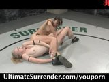 Amber wrestling Sarah - winner gets the pussy!