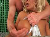 busty silver spandex babe loves anal fucking