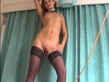 Girl in black stockings