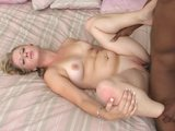 black cock stuffed into white asshole