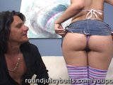 Bubble Butt Cutie Riding Hard Cock