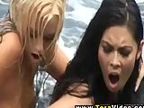 Girl to girl outdoors with Tera Patrick
