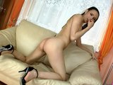 Babes Uses Huge Dildo