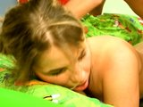Horny girl invites boyfriend to her room   (CLIP)