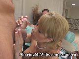 Wife Loses Control With New Cock