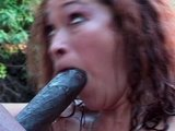 Black pole catches asian mermaid