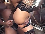 Asian interracial in lingerie