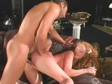 Hot redhead bride gets ass full