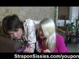 Strapon sissy sex