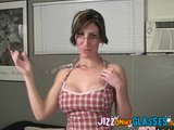 Facial on Glasses Melanie Malone cum on glasses