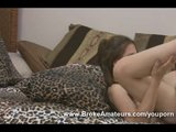 Amateur girl Amber fucked hard then gets a facial