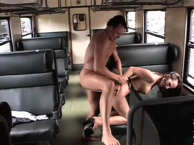 sexy hot fucking at train