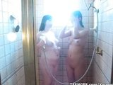 sexy shower for two horny gfs
