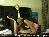 Sissy secretary swallows