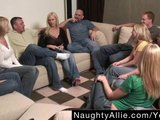 PARTY GAME LEADS TO A HUGE ORGY – SWINGER WIVES