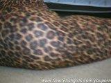 Redhead Rachel in tiger spandex