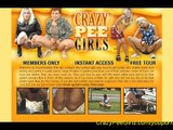 crazy girls peeing in public
