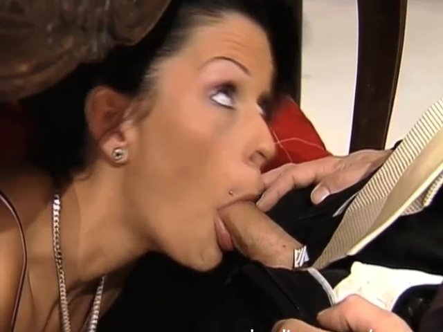 Secret under table blowjob