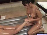 Asa Akira in lesbo nuru massage p.3