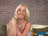 Hot Blonde Gets Glasses Facial Goldie blowjob