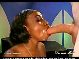 18-yr-old ebony girl drenched in cum