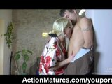 Hot mature MILF caught masturbating