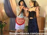 Strapon MILF fucks sissy maid dude