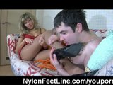 Nylon foot sex