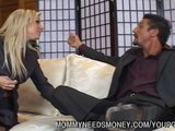 MILF is fucking younger guy for money that she wants to earn