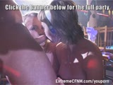 Beautiful Kate fuckes Male Strippers and Girls