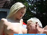 Porno Video of Old Man Enjoying Huge Boobs And Young Pussy