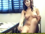 Amateur Stripping In College Dorm On Webcam