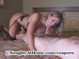horny sexy MILF Fucks Friends Son on the room on camera