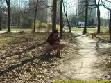 Porno Video of Chubby Babe Peeing In Forest