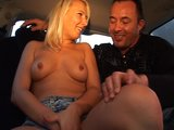Blonde blows him in the car