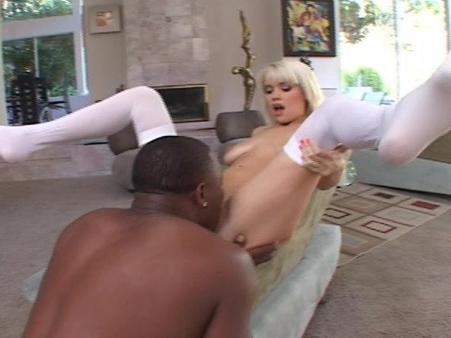 Blonde chick fucked hard