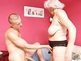 Cougar granny seduces young russian boy to have sex with her