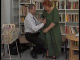 Mature Librarian woman gets her chubby cunt penetrated