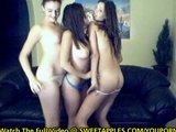 3 Hot Girls Shake Their Asses Naked On Webcam