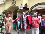 Lola - Hot Redhead Has Fun In Public