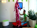 Spandex fetish girl blow and fuck anal