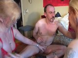 Couple enjoy fruits of older woman