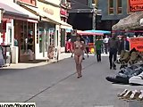 Sex Movie of Jeamie - Cute Brunette Has Fun In Public Streets