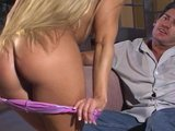 hot and horney blonde gives pleasure